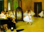dance famous paintings - dance class by edgar degas