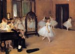 edgar degas dance class oil paintings
