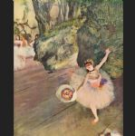 edgar degas dancer with a bouquet of flowers painting 78365
