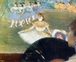 edgar degas dancer with a bouquet of flowers painting 35247