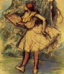 edgar degas dancer with a fan ii prints