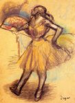 edgar degas dancer with a fan study prints