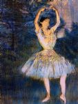 edgar degas dancer with raised arms painting