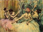 dancers in the wings by edgar degas painting