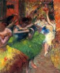 dance famous paintings - dancers in the wings ii by edgar degas