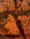 scenery acrylic paintings - dancers on the scenery by edgar degas