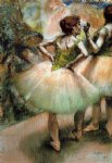 edgar degas dancers pink and green ii painting
