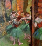 edgar degas dancers pink and green painting