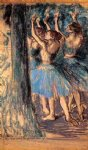 edgar degas group of dancers tree decor paintings-35295