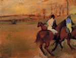 edgar degas horses and jockeys painting