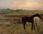 edgar degas horses in a meadow painting 35307