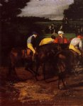 edgar degas jockeys at epsom art