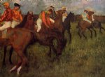 edgar degas jockeys ii art