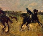edgar degas jockeys iii art