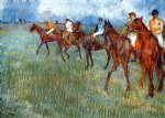 edgar degas jockeys in the rain art