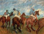 edgar degas jockeys iv art