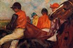 edgar degas jockeys art