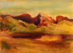 mountain original paintings - lake and mountains by edgar degas