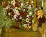 edgar degas madame valpinon with chrysanthemums painting
