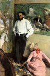 edgar degas portrait of henri michel painting
