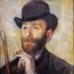 edgar degas portrait of zacherie zacharian painting