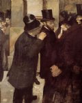 portraits original paintings - portraits at the stock exchange by edgar degas