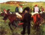 edgar degas racehorses at longchamp ii painting