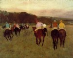 edgar degas racehorses at longchamp print