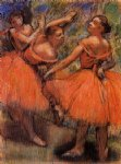 edgar degas red ballet skirts painting