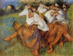 edgar degas russian dancers ii painting