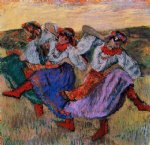 edgar degas russian dancers iv art