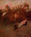 edgar degas scene from the steeplechase the fallen jockey art