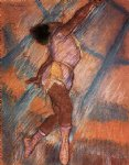 edgar degas study for la la at the cirque fernando painting