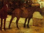 edgar degas study of horses painting 35436