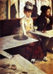 edgar degas the absinthe drinker painting