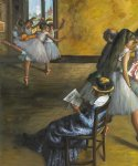 edgar degas the ballet class painting