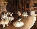 edgar degas the ballet rehearsal on stage painting