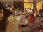 edgar degas the dance class paintings