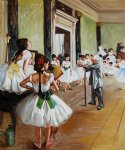edgar degas the dance class ii oil paintings