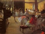 edgar degas the dance class iii oil paintings