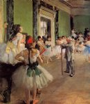 edgar degas the dance class oil paintings