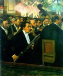 edgar degas the orchestra of the opera painting
