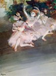 edgar degas three ballet dancers painting