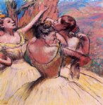 edgar degas three dancers iv painting