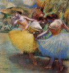 edgar degas three dancers v painting