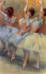 edgar degas three dancers painting