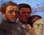 edgar degas three heads painting
