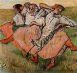 edgar degas three russian dancers posters