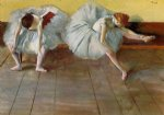 ballet original paintings - two ballet dancers by edgar degas