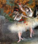 edgar degas two dancers entering the stage paintings